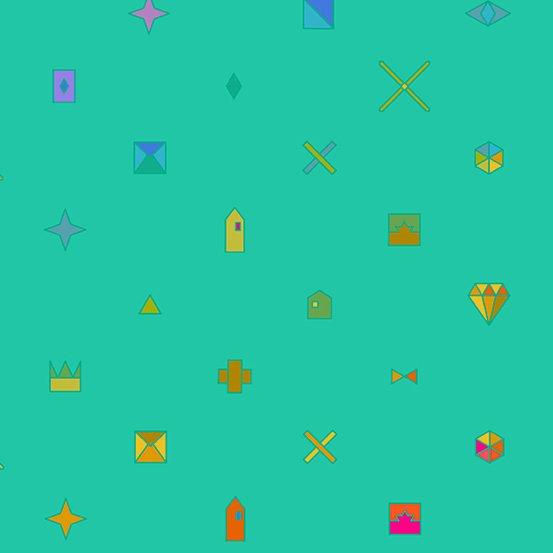 Sun Print 2021 - Jade Trinket - By Alison Glass For Andover Fabrics