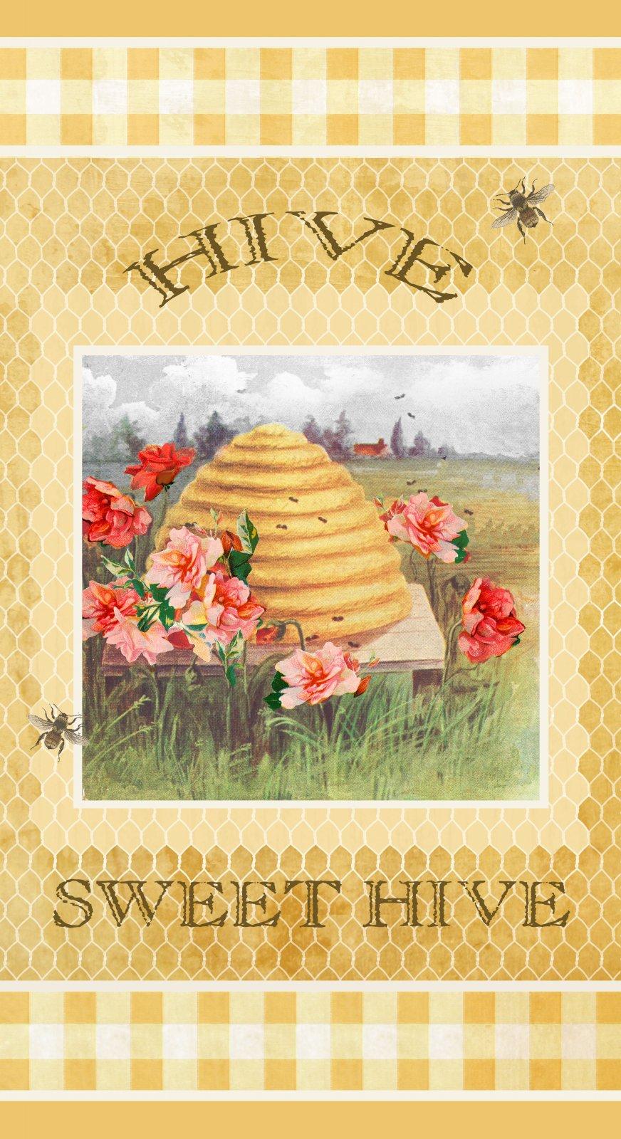 Bee Sweet - 24 Bee Hive Panel - by Studio E Fabrics