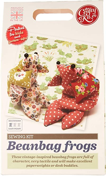 Sewing Kit - Beanbag Frogs - By The Crafty Kit Company