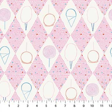 Ring Toss - Pink Midway Treats - by Emily Taylor from FIGO Fabrics