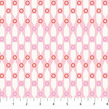 Ring Toss - Pink Ring Toss - by Emily Taylor from FIGO Fabrics