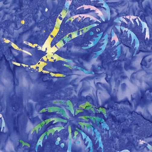 Bali Hawaii - Purple Palm Trees - By Benartex Studio For Benartex Fabrics
