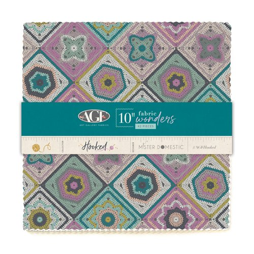 Hooked - 10 Wonders Pack of 10 Squares  - by Mister Domestic for Art Gallery Fabrics