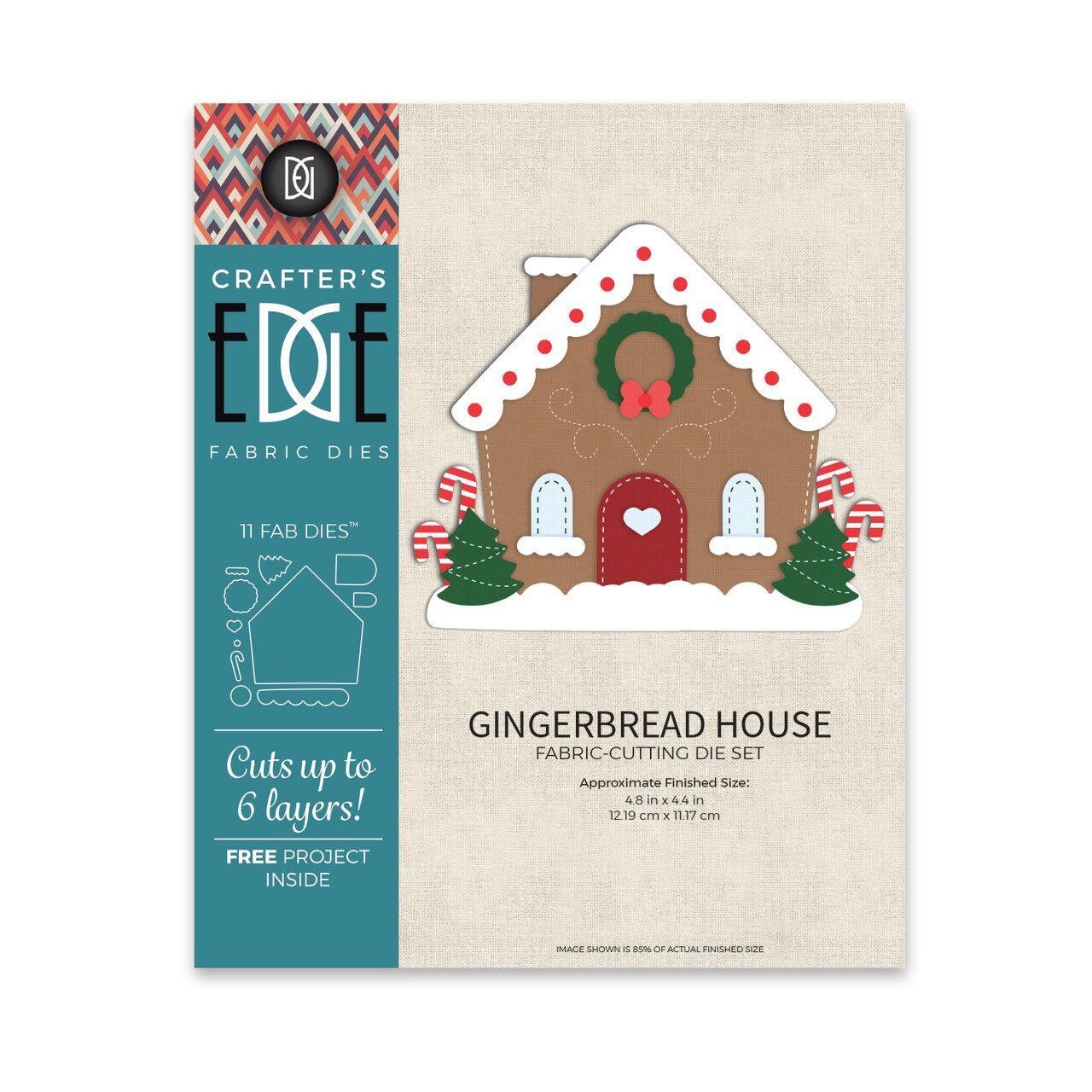 Gingerbread House - Fabric Cutting Die Set