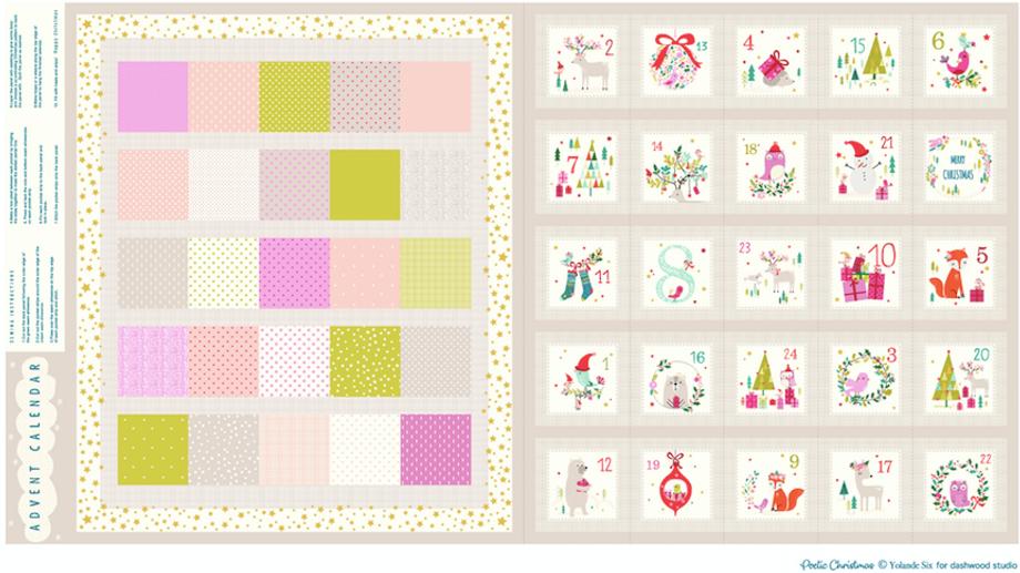 Joli Noel Advent Calendar 24 x 45  by Yolande Six for Dashwood Studios