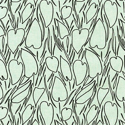 Driftless Linen - Aqua Hearts*Canvas* - by Anna Graham for Robert Kaufman