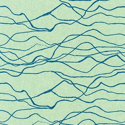 Quarry Trail - Seafoam Mountains - By Anna Graham For Robert Kaufman Fabrics