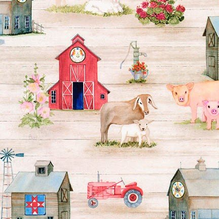 Down on the Farm Digital - Country, AIQD-18107-276  - by Kathleen Parr McKenna for Robert Kaufman