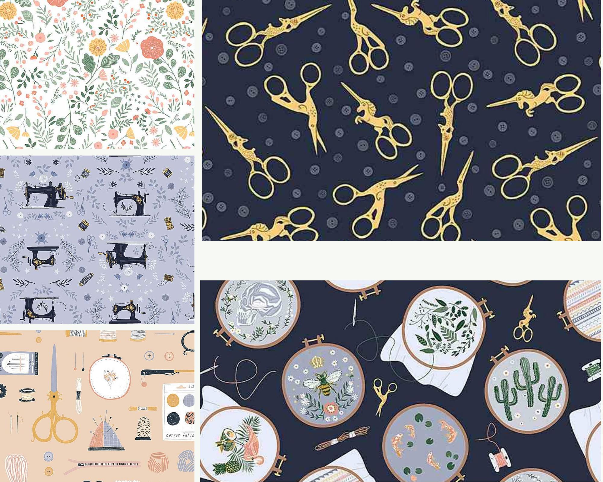 Sew On & Sew Forth - Fat Quarter Bundle 5pc/bundle - By Dear Stella Designs