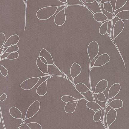 Spring Shimmer - Metallic Zinc Floral - By Jennifer Sampou For Robert Kaufman Fabrics