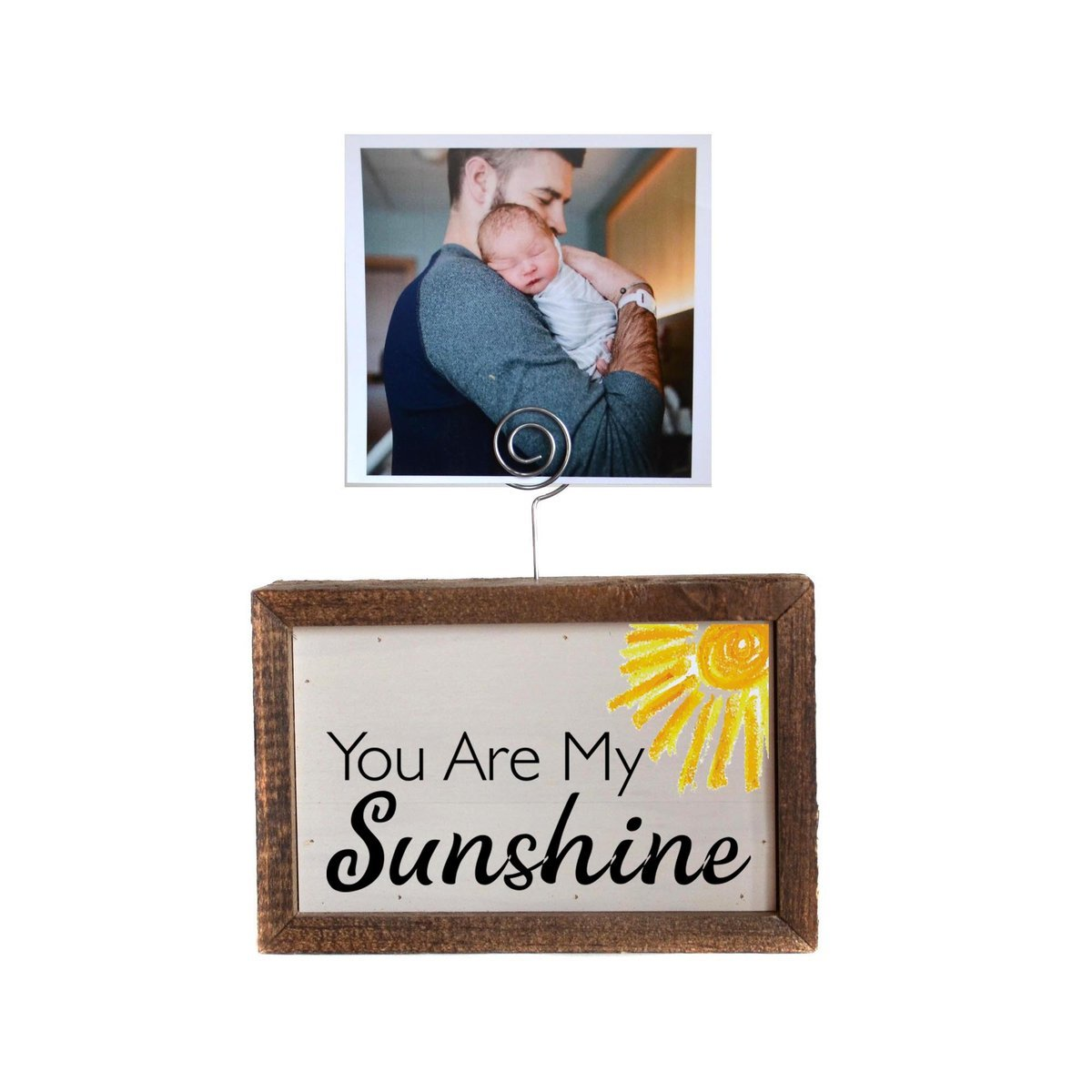 You Are My Sunshine Picture Block with Wire Picture Holder - 6 x 4 x 2 - by Driftwood Studios