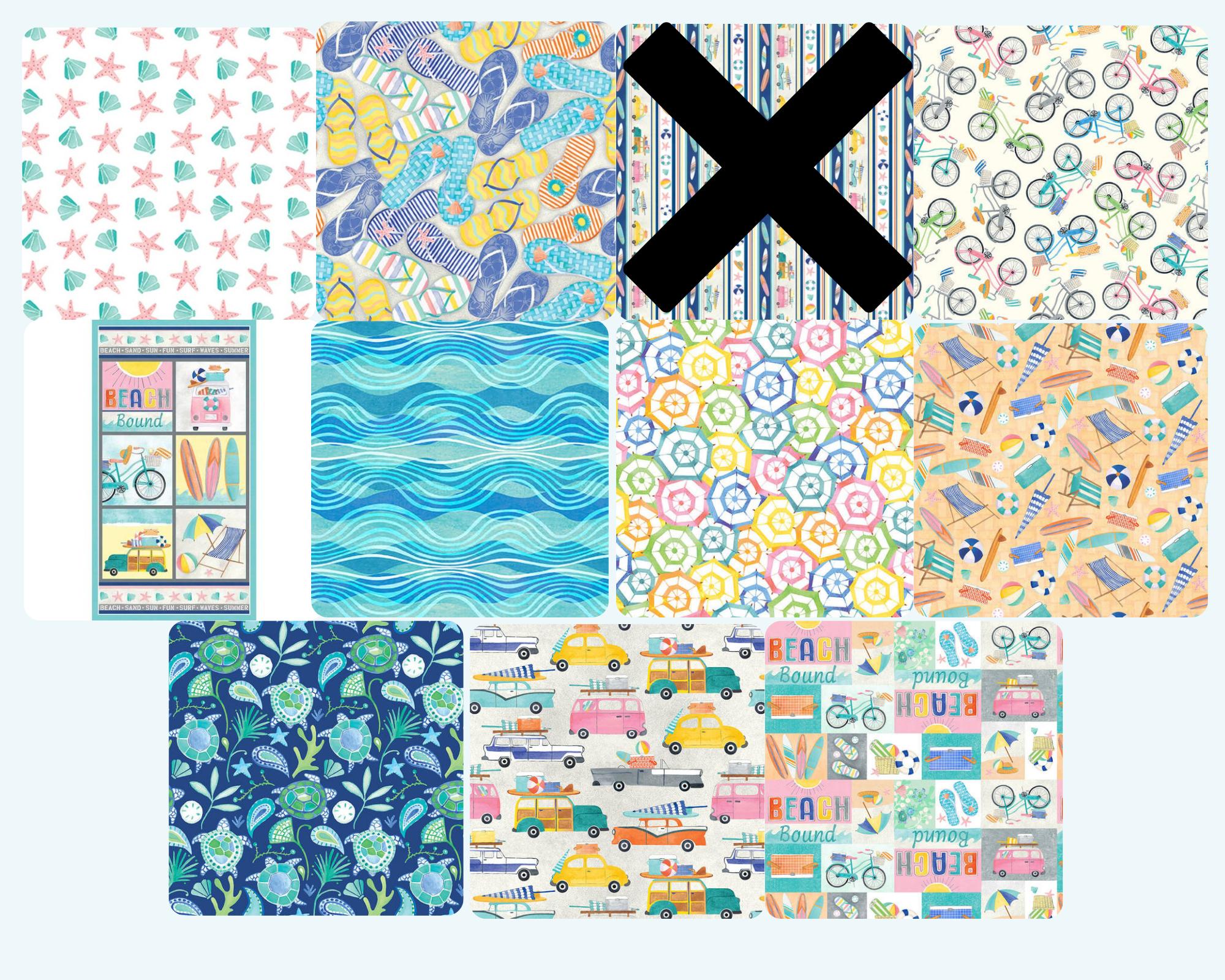 Beach Bound - Fat Quarter Bundle 10pc/bundle - By Color Pop Studios For Blank Quilting