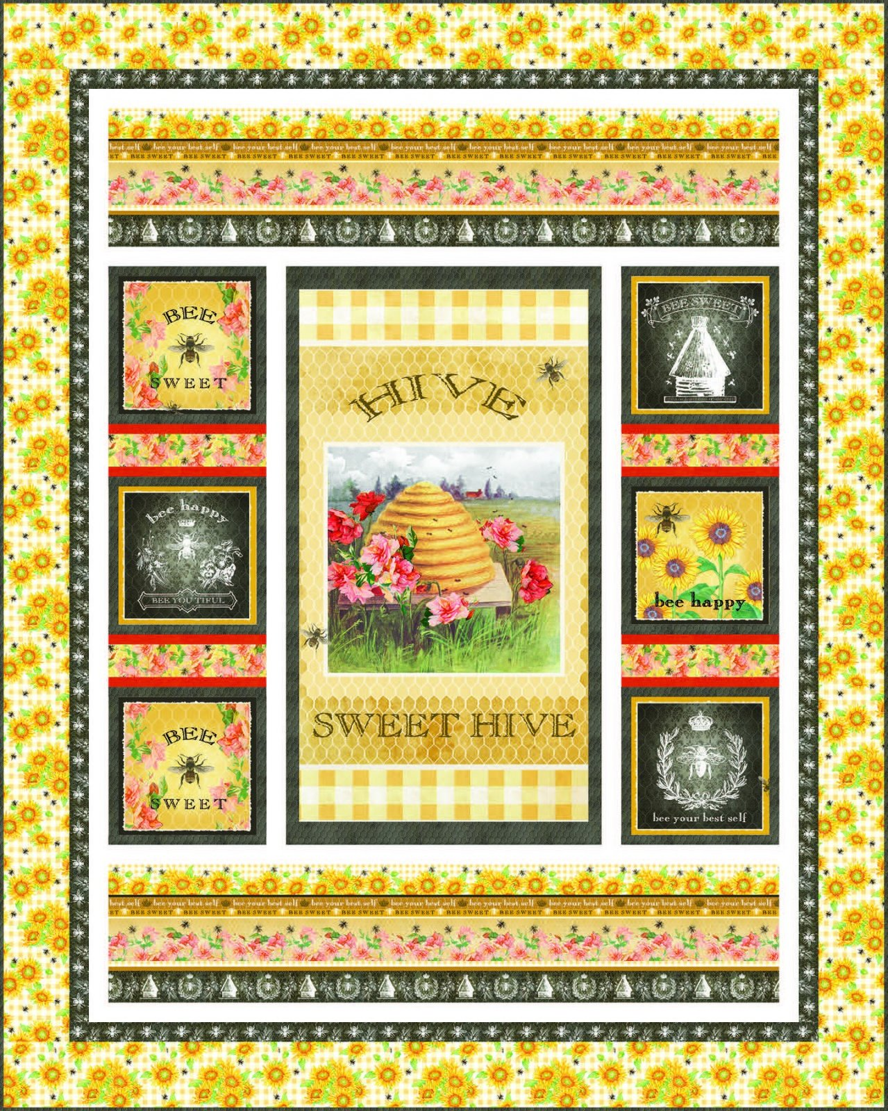 Bee Sweet - Bee Sweet Quilt Kit - by Studio E Fabrics