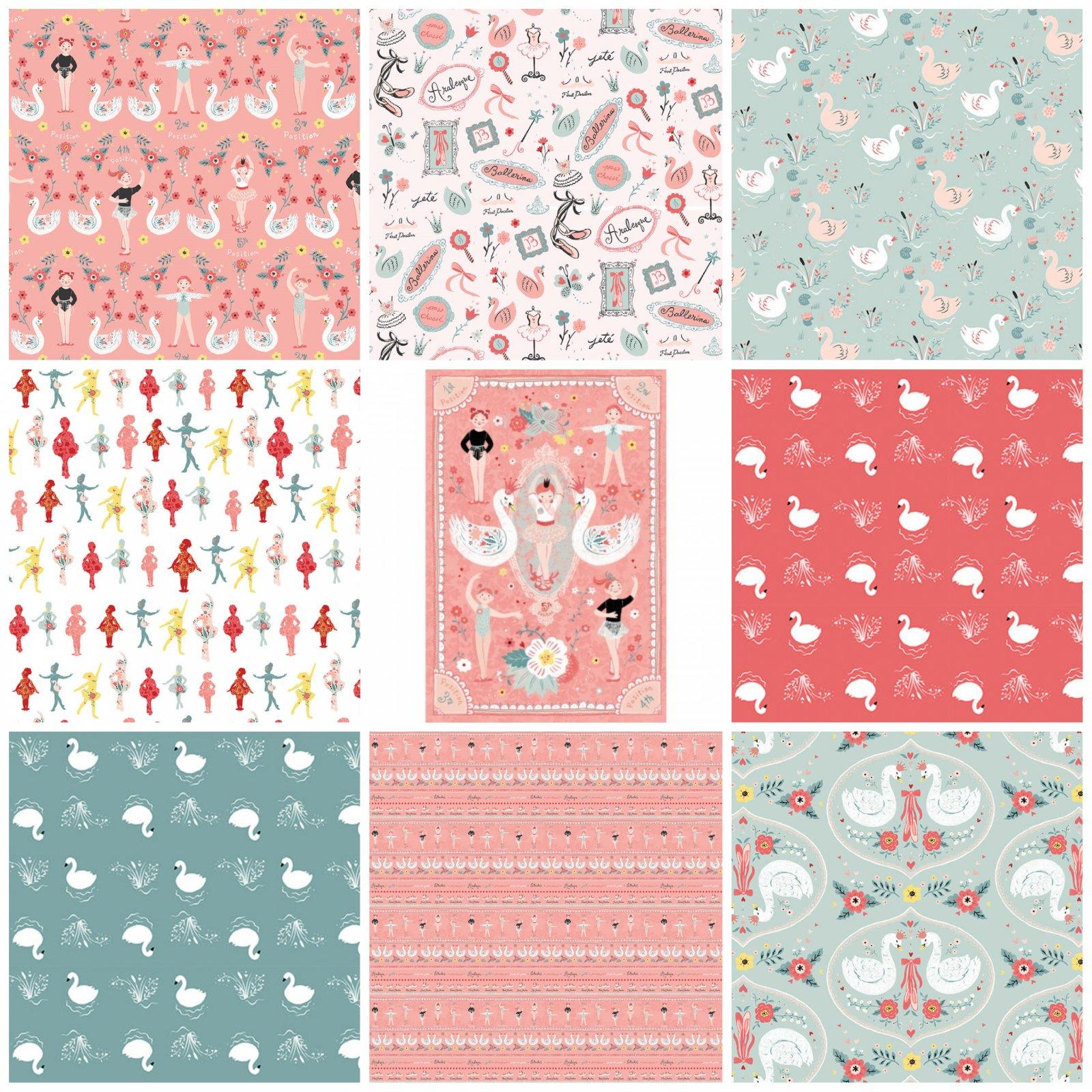 Bella Ballerina - Fat Quarter Bundle 9pc/bundle - By Lucie Crovatto for Studio E Fabrics