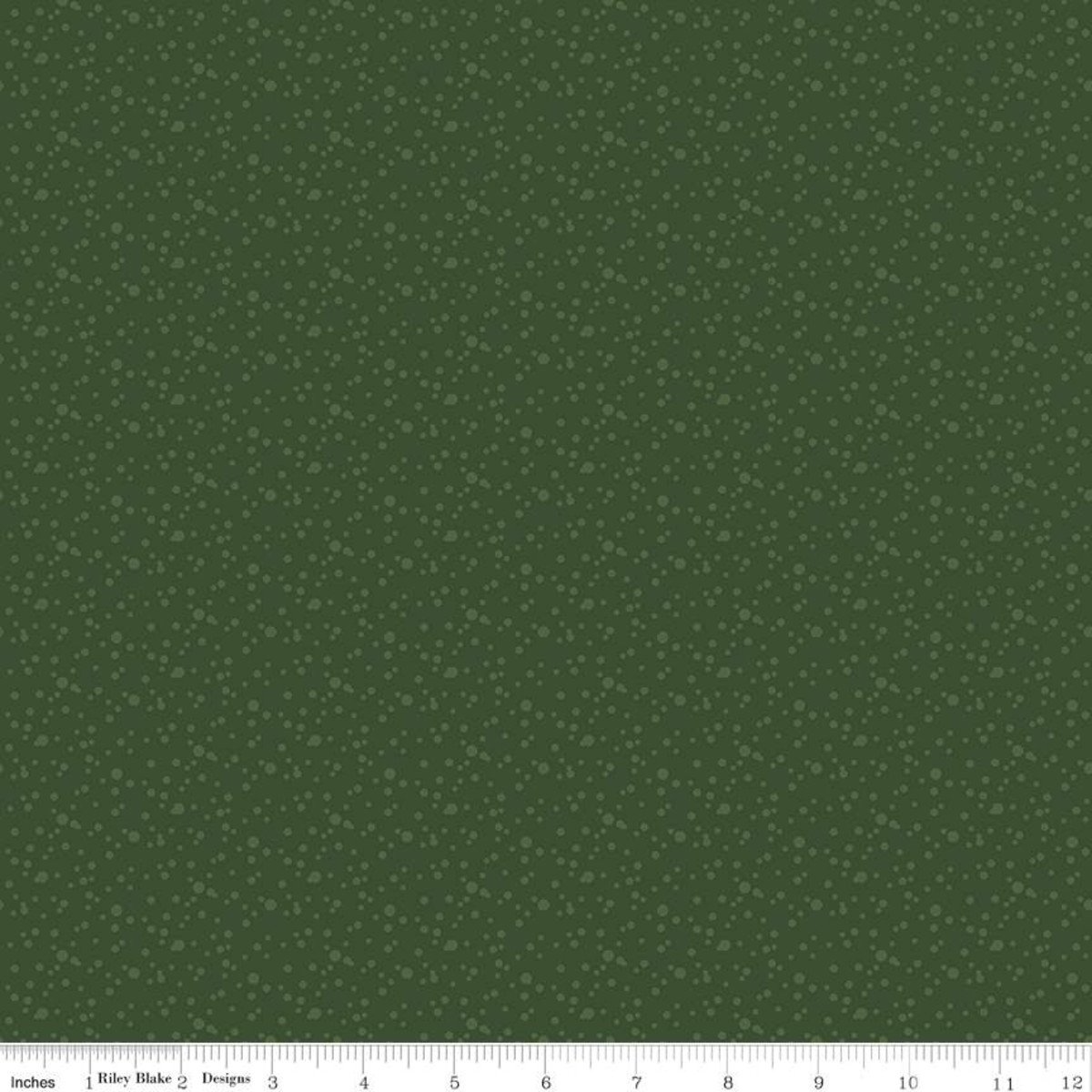 At The Lake - Hunter Green Dots - By Tara Reed For Riley Blake Fabrics