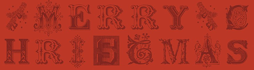 All About Christmas - Red Typography - By J. Wecker Frisch For Riley Blake