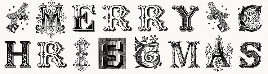 All About Christmas - Typography - By J. Wecker Frisch For Riley Blake