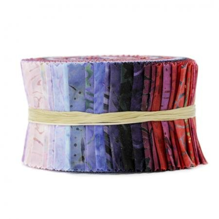 Best of Malam Batiks - Berry Basket Spindle Strips - 2.5 Strip Roll - by Jinny Beyer for RJR