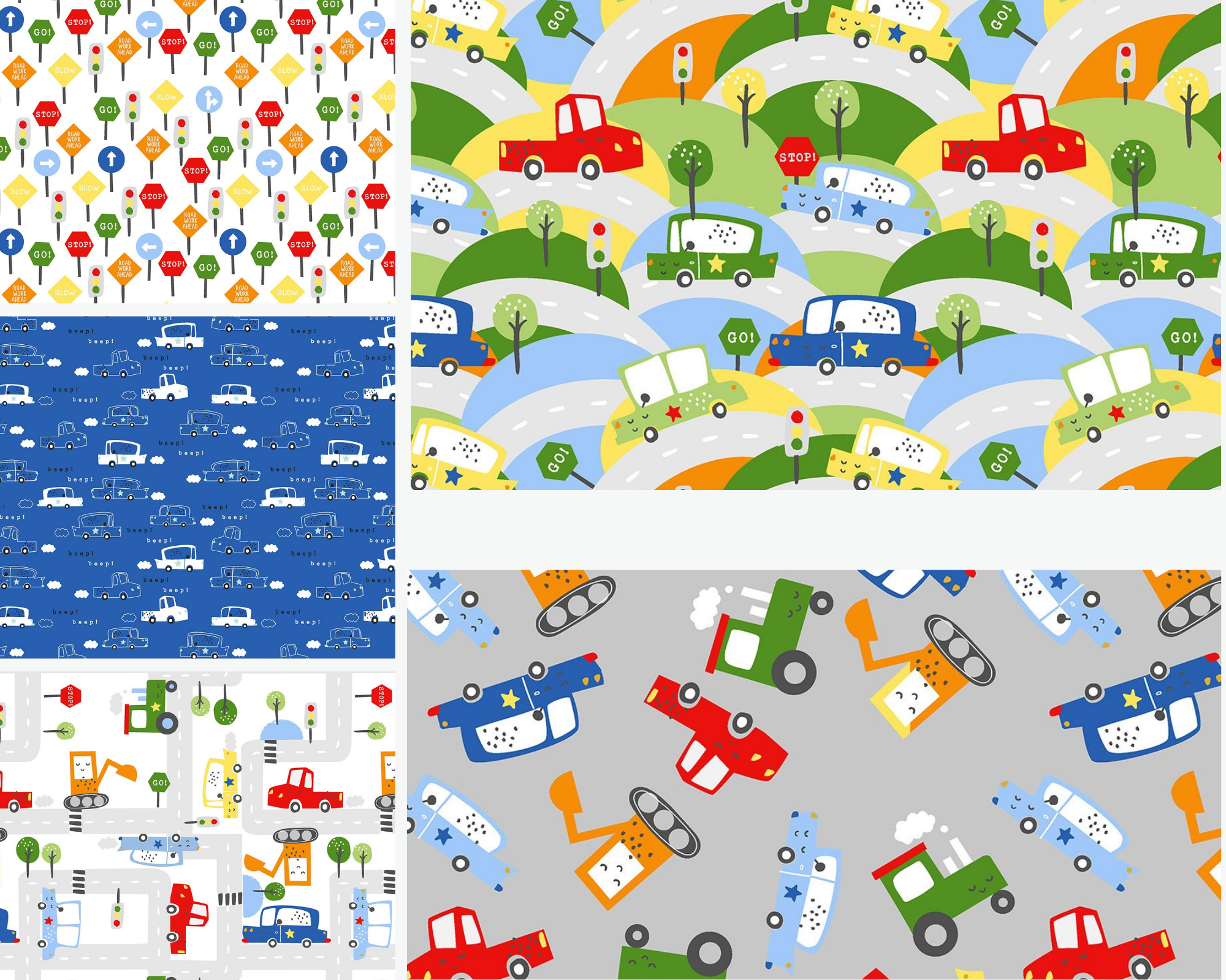 Drivers Wanted - Fat Quarter Bundle 5pc/bundle*Flannel* - By Micheal Moon For 3 Wishes Fabric