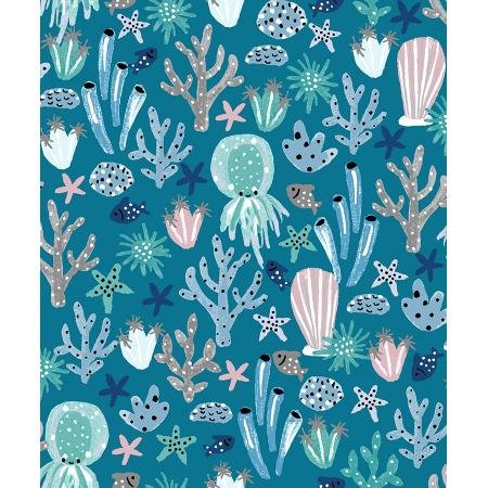 Kaikoura - Under the Sea, Azure - By Calli and Co for Cotton and Steel