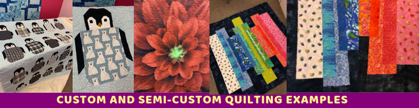 Examples of semi-custom and custom quilting