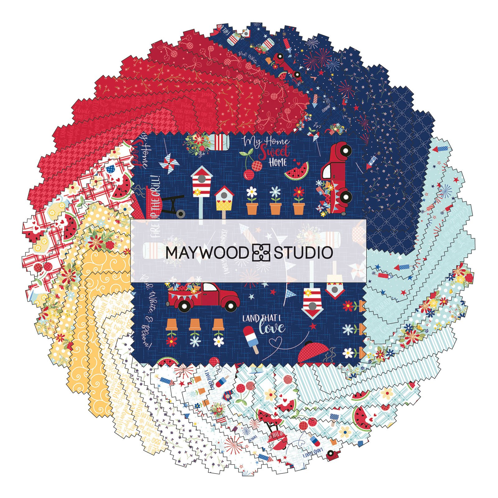 Red, White, And Bloom - Layer Cake 42pc/bundle - By KimberBell For Maywood Studio