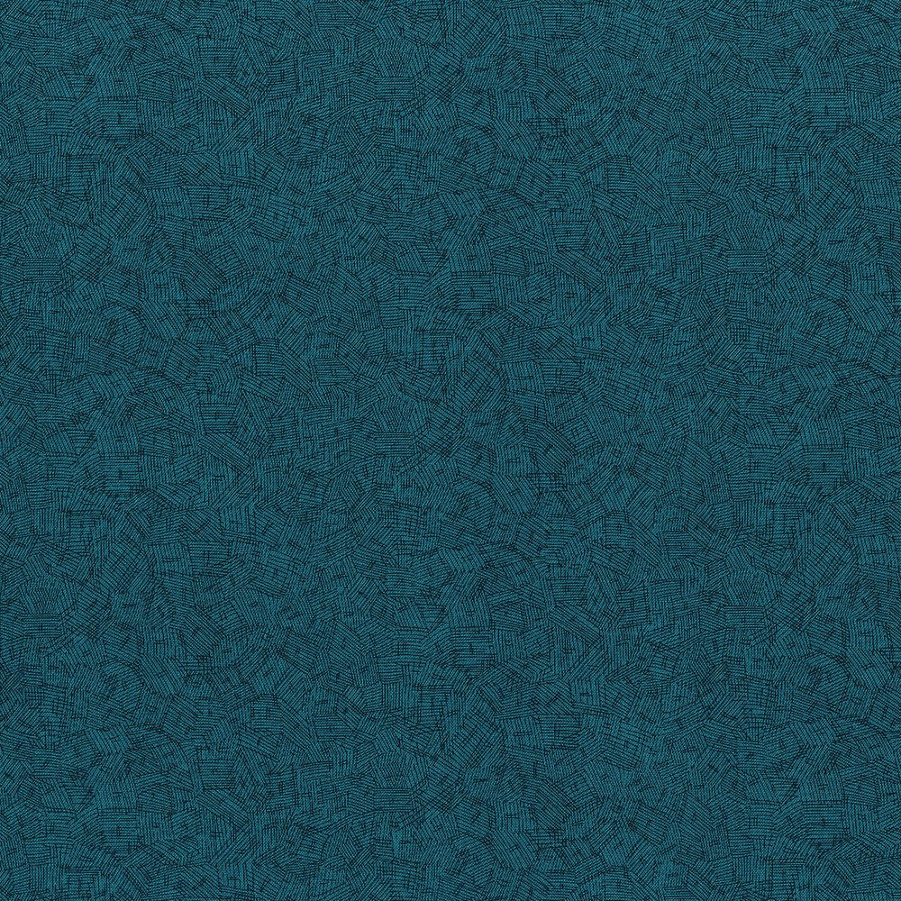 Hopscotch - Crosshatch My Way, Teal - by Jamie Fingal for RJR