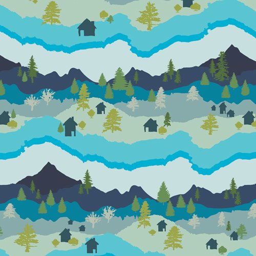 Art Gallery Fabrics Catch and Release by Mister Domestic - Mountain Scape