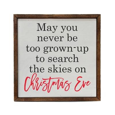 May You never Be Too Old to Search the Skies on Christmas Eve Wall Art - 10 x 10 - by Driftwood Studio