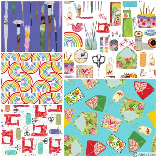 Create & Hobby - Fat Quarter Bundle (5 pieces) - by 3 Wishes