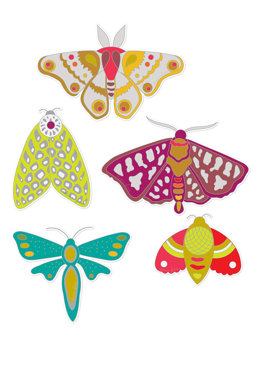 Alison Glass - Ex Libris Sticker Set (Set Of 5)