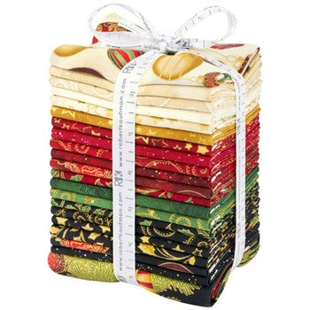 Winter's Grandeur 7 Metallic Roll Up, Holiday Colorstory by Robert Kaufman - Includes 20 Fat Quarters and 1-yard panel