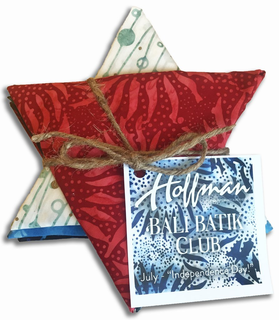 Hoffman Bali Batik Club Bundle - July - Independence Day - 12pc/bundle