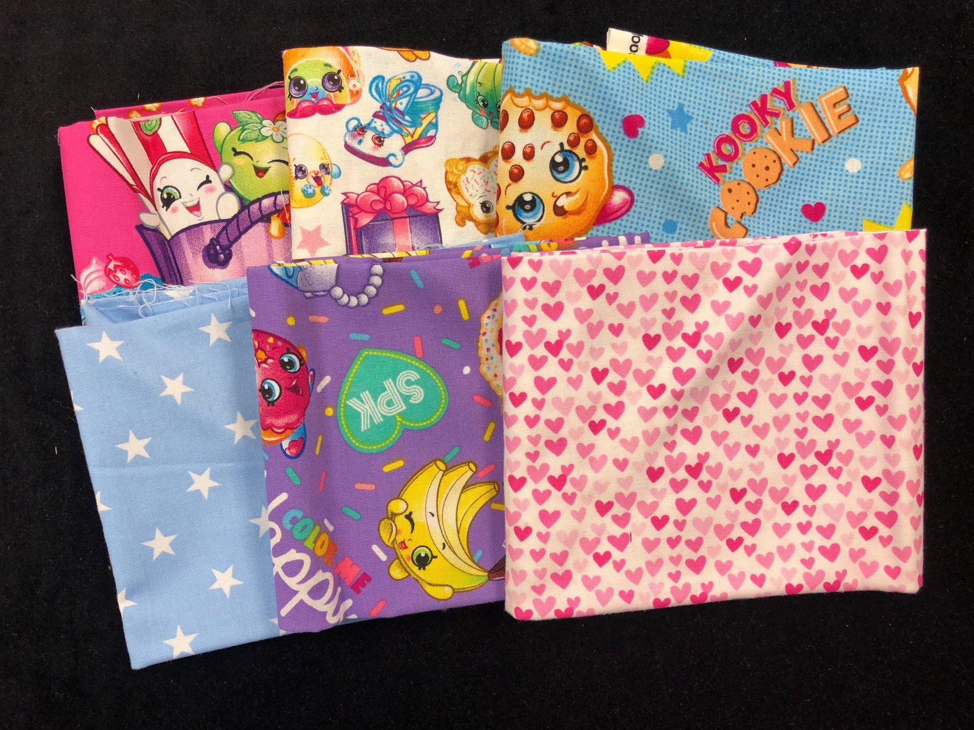 Shopkins Fat Quarter Bundle - 6 Pieces