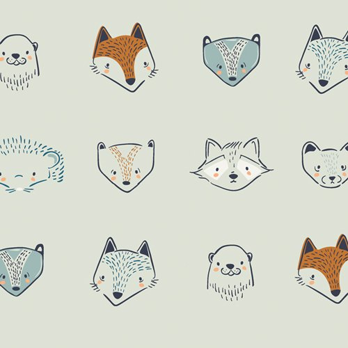 Fusion Little Forester - Furries - By AGF Studio For Art Gallery Fabrics