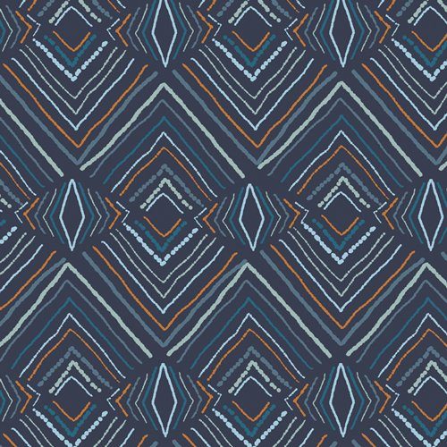 Fusion Little Forester - Wavelength - By Jessica Swift For Art Gallery Fabrics