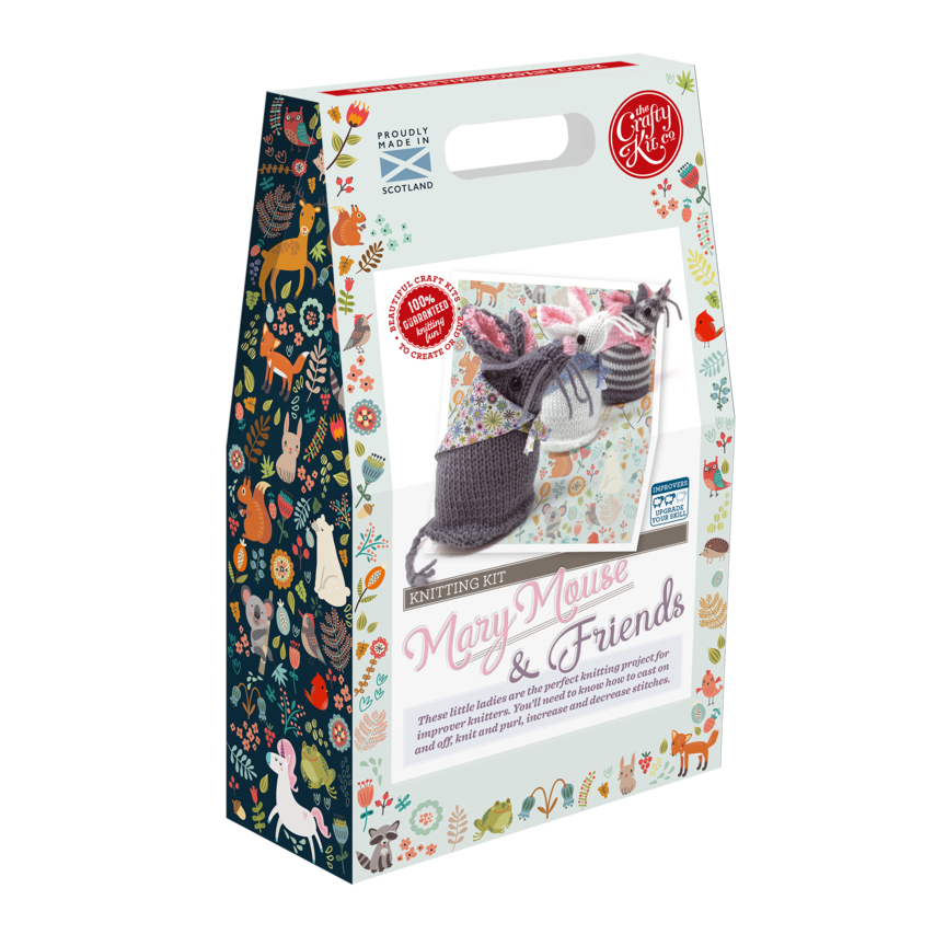 Knitting Kit - Mary Mouse & Friends - By The Crafty Kit Co