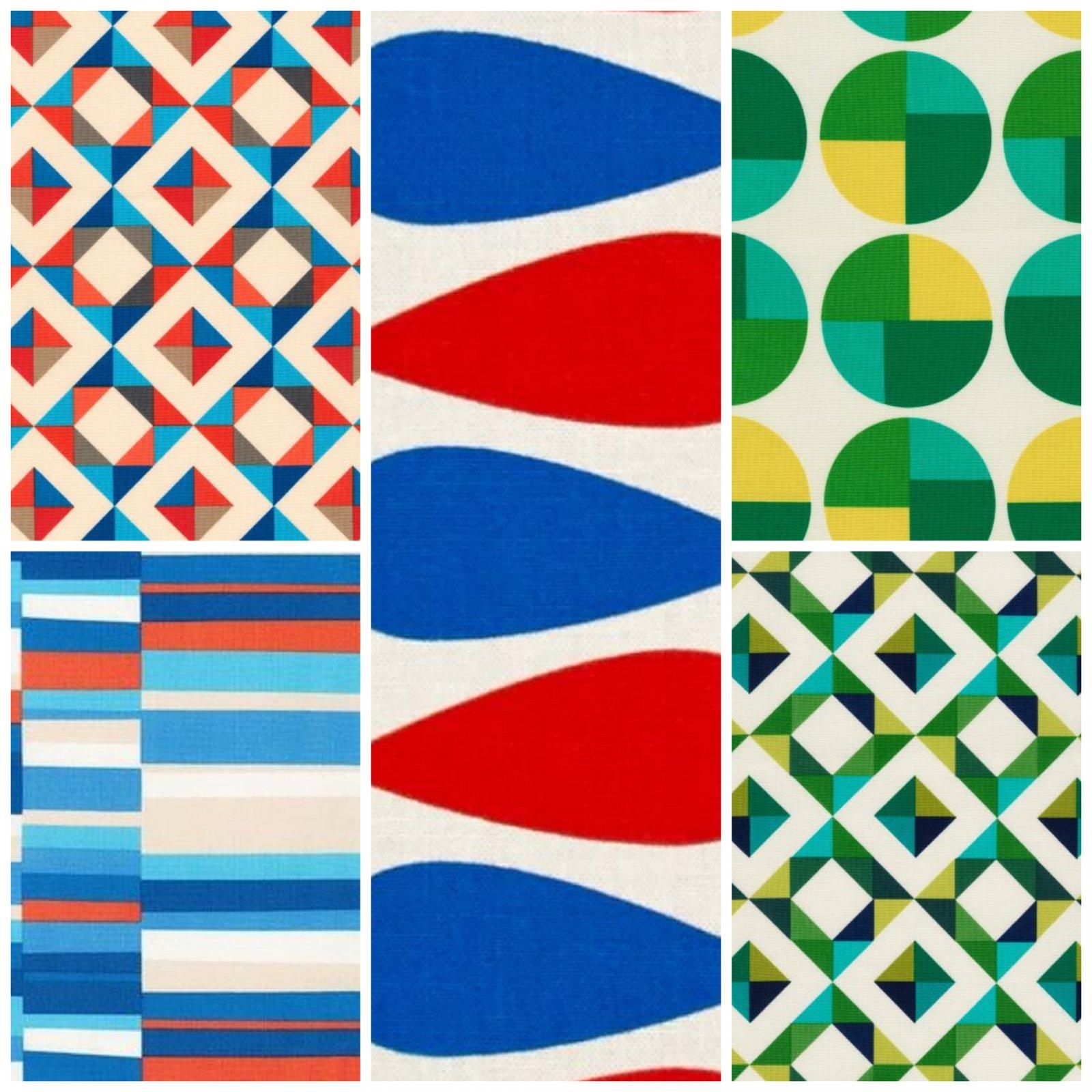 Fat Quarter Bundle Bright Geo Pop Canvas 12pcs/bundle - Robert Kaufman Fabrics
