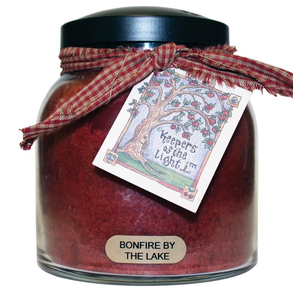 Bonfire by the Lake Papa Jar Candle 34oz - By A Cheerful Giver