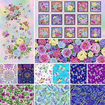 Gossamer Garden - Fat Quarter Bundle 12pc/bundle - By Color Principle For Henry Glass Co.