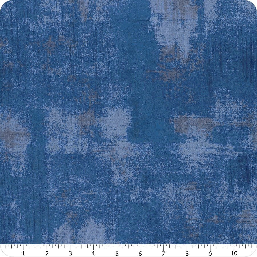 108 Grunge Wide Quilt Back, Cobalt - by Basic Grey for Moda