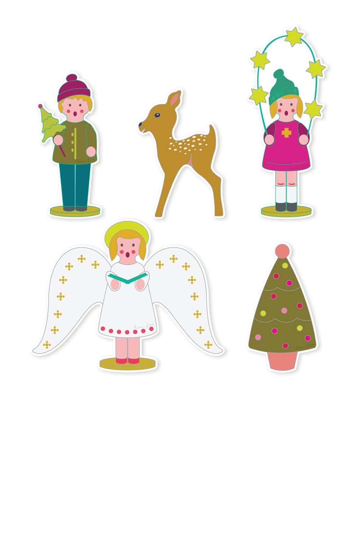 Alison Glass - Holiday Sticker Set (Set Of 5)
