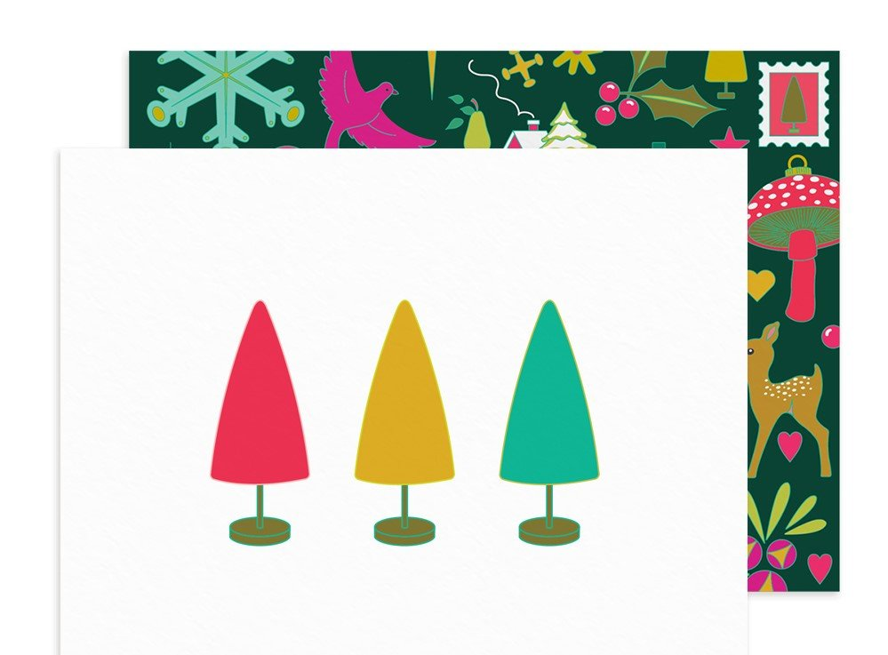 Alison Glass - Holiday Trees Card