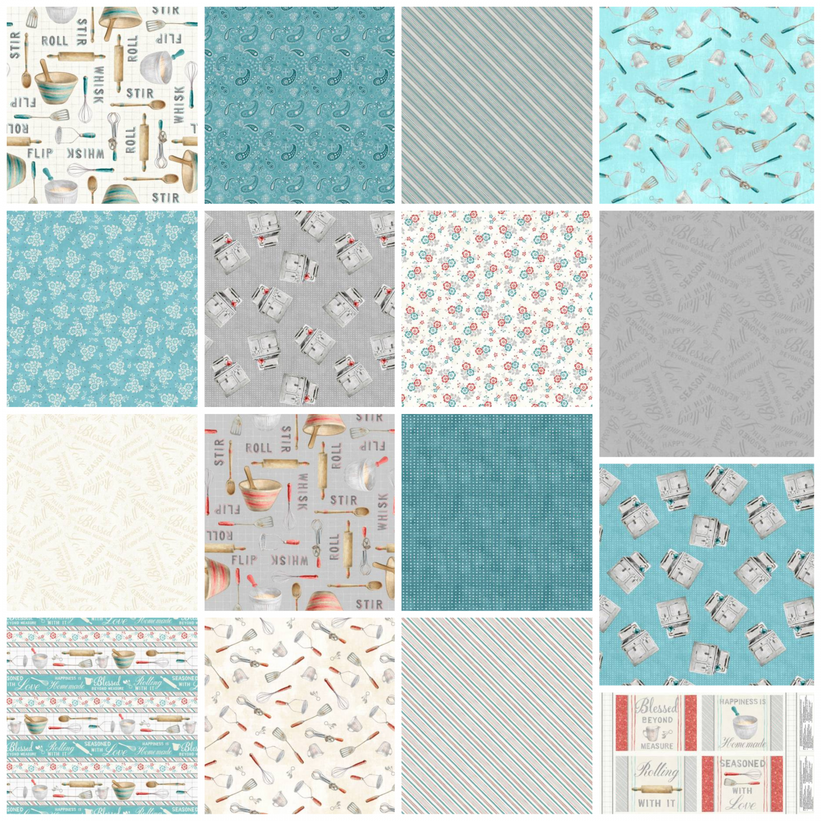 Homemade Happiness - Fat Quarter Bundle, Full Collection- by Danhui Nai for Wilmington Prints