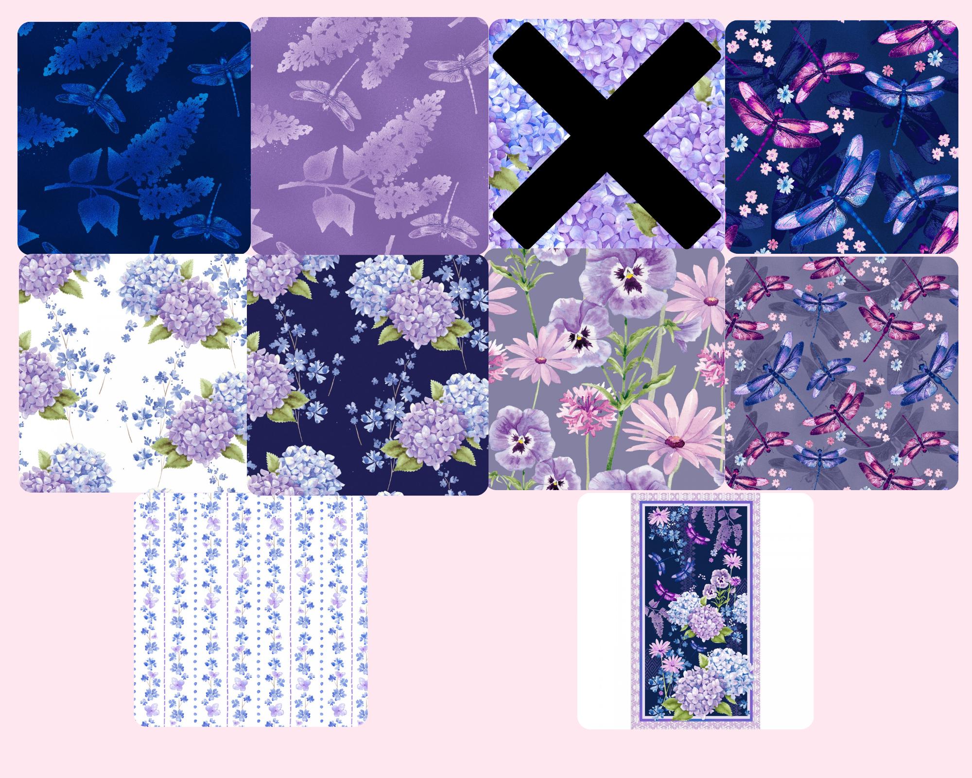 Midnight Hydrangea - Fat Quarter Bundle 9pc/bundle  - By Laura Stone For Studio E Fabrics