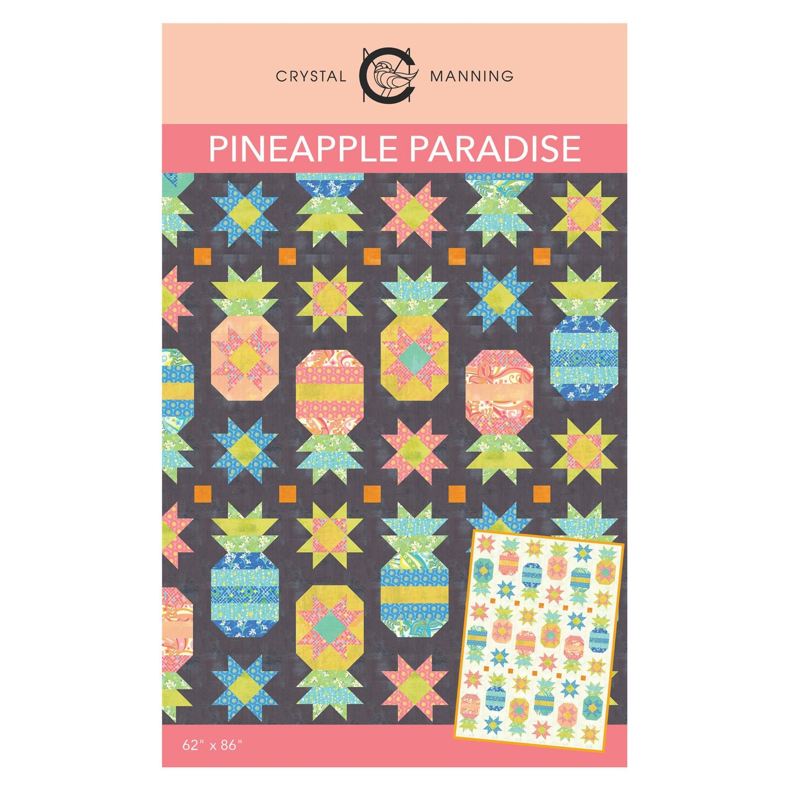 Pineapple Paradise Quilt Pattern by Crystal Manning for Moda Fabrics