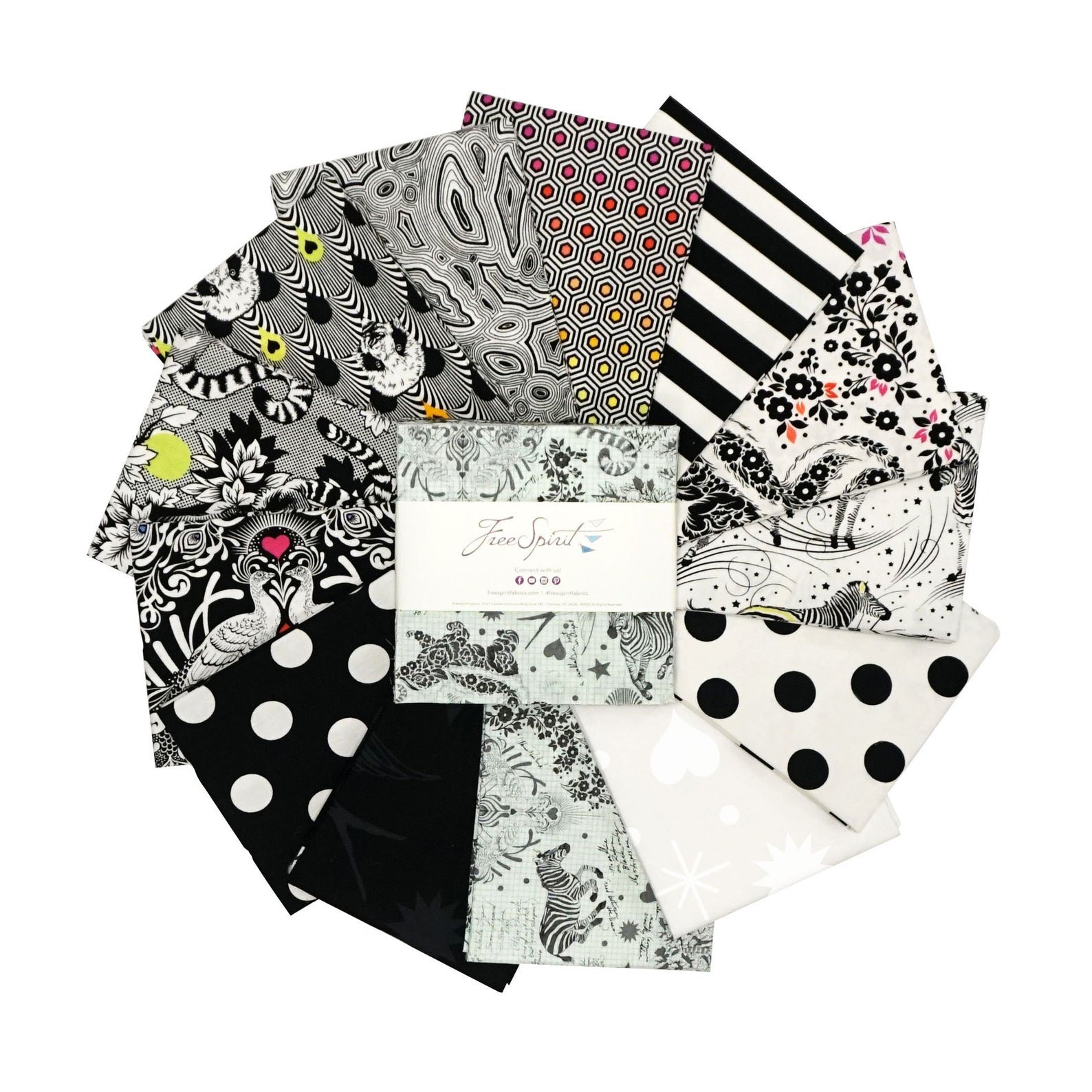 Linework - 5 Charm Pack with 42 10 Squares, Full Collection - by Tula Pink for Free Spirit Fabrics