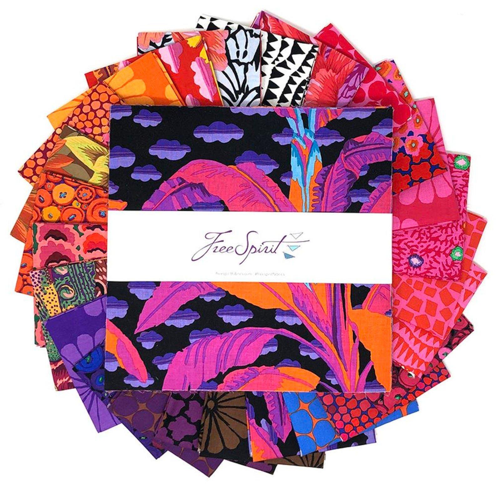 February 2021 - Hot Layer Cake 42pc/bundle - By Kaffe Fassett Collective For Free Spirit Fabrics