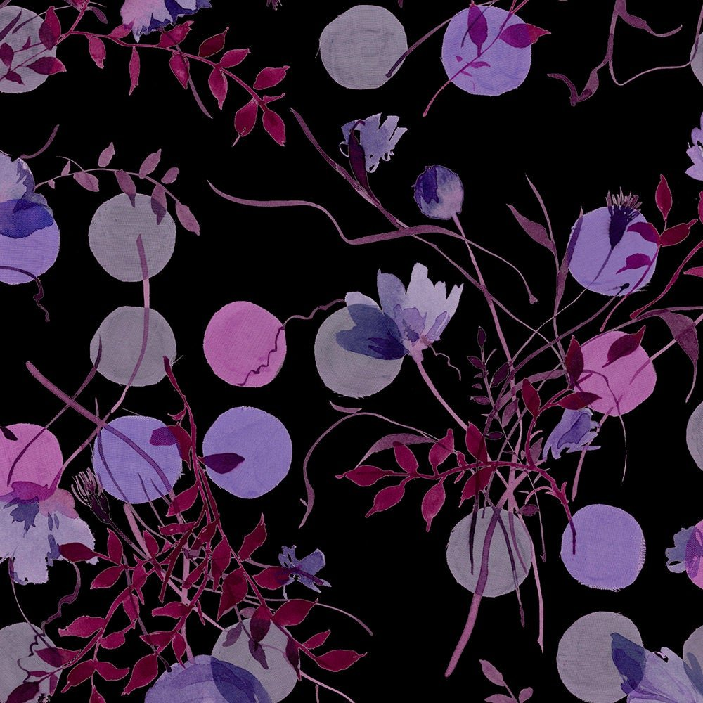 Avalana - Purple Floral 58 Knit - By Stof Fabrics