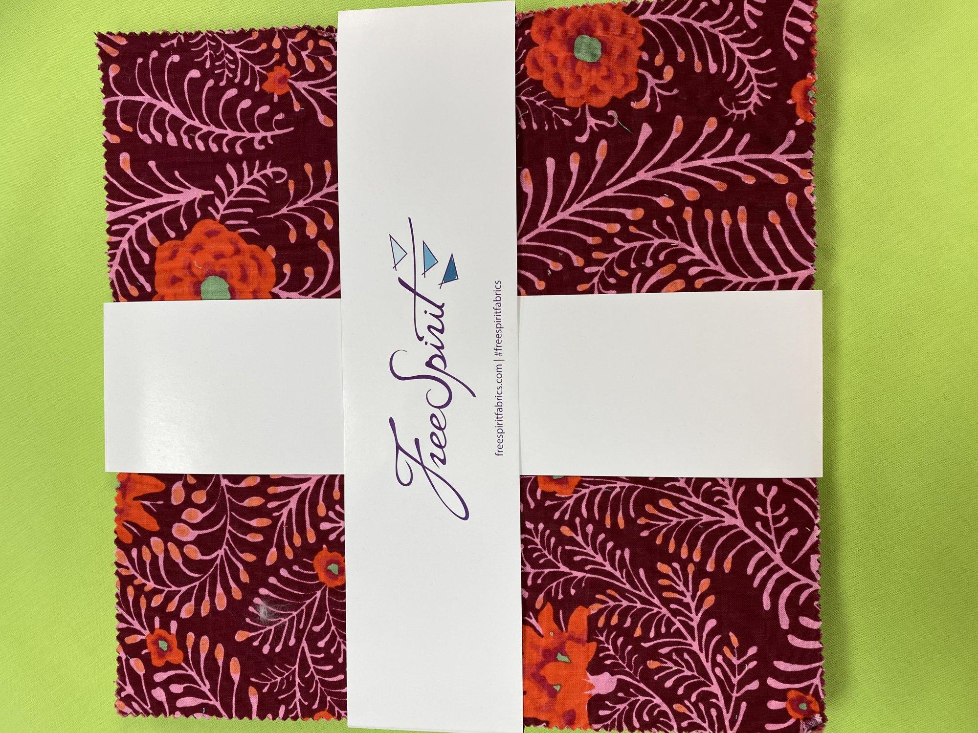Criss Cross Quilt Kit with Kaffe Fassett Lipstick 10 Charm Pack